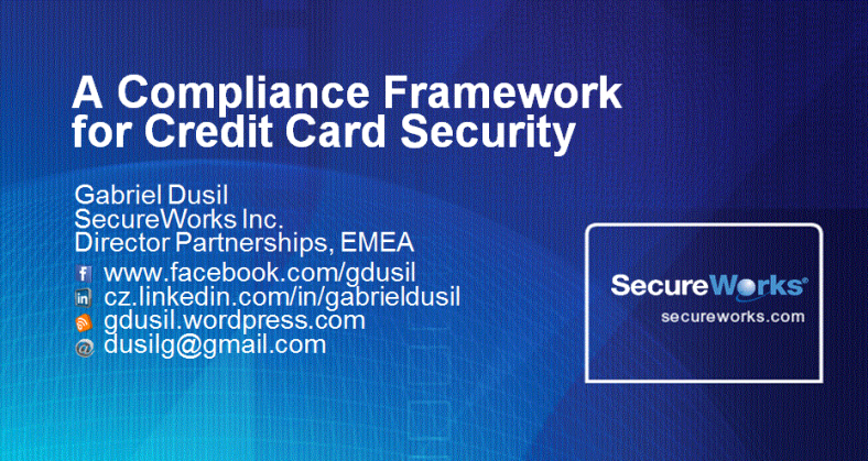 Graphic - SecureWorks, A Compliance Framework for Credit Card Security (title)
