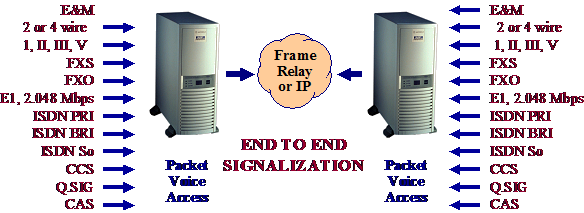 Figure #14. Gateway functionality between Frame Relay and IP networks
