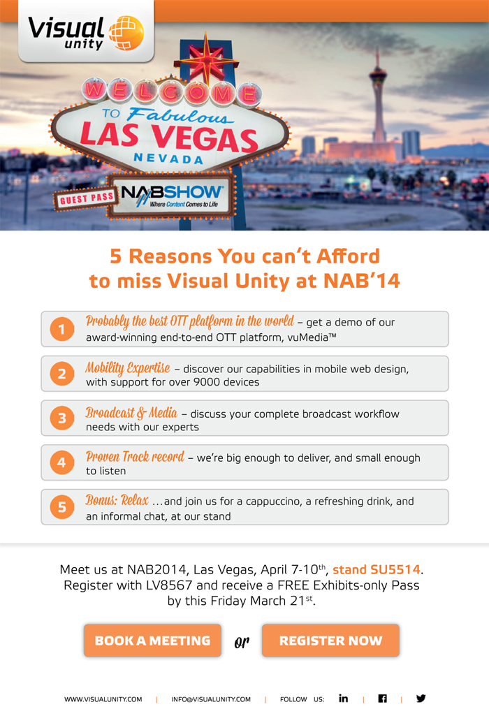 NAB '14, Las Vegas (Invitation, v1.7)
