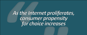 iiib. As the Internet proliferates, consumer propensity for choice increases)