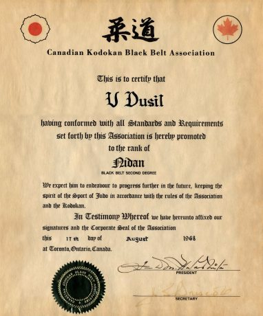 68.Aug.17 - Toronto · Document, Vaclav Dusil (Judo, Nidan)