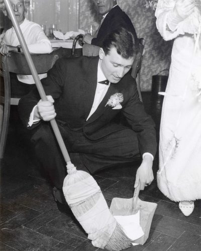 68.Feb.24 - Košice · Eva Kendeova & Vaclav Dusil Wedding (sweeping up, restored)