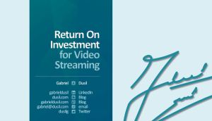 Portfolio - Visual Unity Global (training, 14.Jun.10, #5, Return On Investment for Video Streaming)